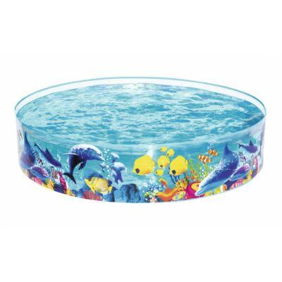 Átlátszó PVC falú gyermek medence
