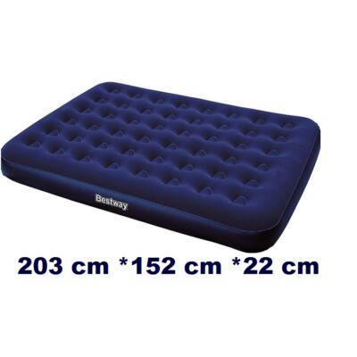 Bestway sötétkék dupla velúr matrac 203 x 152 x 22 cm