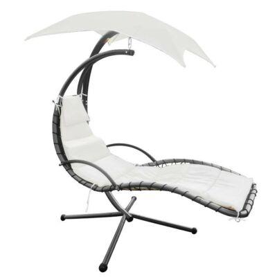 Fehér függőszék napernyővel (200x116x205 cm-es)